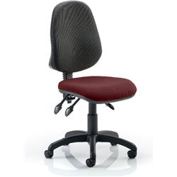 Eclipse III Task Operator Chair Chilli Colour Seat Without Arms Ref KCUP0270