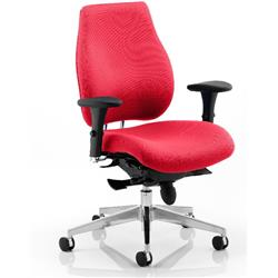 Chiro Plus Posture Chair Cherry Colour With Arms Ref KCUP0145