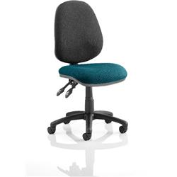 Luna II Task Operator Chair Kingfisher Colour Seat Without Arms Ref KCUP0351