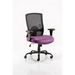 Portland HD Task Operator Chair Purple Colour Seat With Arms Ref KCUP0464