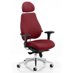 Chiro Plus Posture Chair Ultimate With Headrest Chilli Colour With Arms Ref KCUP0174