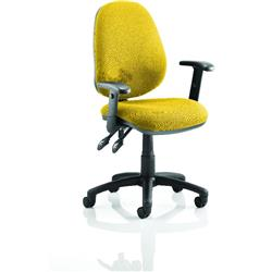 Luna II Lever Task Operator Chair Sunset Colour With Height Adjustable Arms Ref KCUP0931