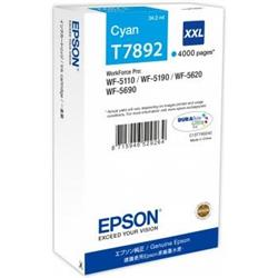 Epson T7892 XXL Cyan Ink Cartridge (65.1 ml) for WorkForce Pro WF-5110DW/WF-5690DWF/WF-5190DW/WF-5620DWF Inkjet Printers