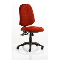 Eclipse XL Task Operator Chair Pimento Colour Without Arms Ref KCUP0244
