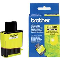 Brother LC900Y Yellow (Yield 400 Pages) Ink Cartridge Blister Pack with RF Security Tag