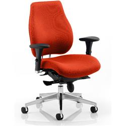 Chiro Plus Posture Chair Pimento Colour With Arms Ref KCUP0148