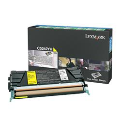 Lexmark C524 Yellow High Yield Toner Cartridge (Yield 5,000)