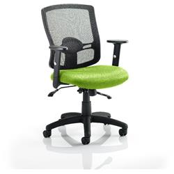 Portland II Task Operator Chair With Swizzle Colour Seat With Arms Ref KCUP0482