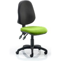Eclipse II Task Operator Chair Swizzle Colour Seat Fabric Without Arms Ref KCUP0234