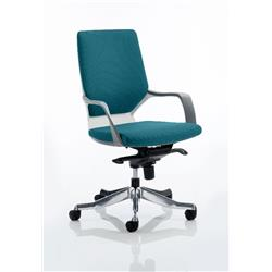 Xenon Executive Chair White Medium Aqua Back Kingfisher Colour With Arms Ref KCUP0615