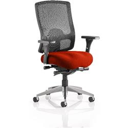 Regent Task Operator Chair Pimento Colour Seat With Arms Ref KCUP0500