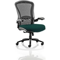 Houston Task Operator Chair Mesh Back Kingfisher Fabric Seat With Arms Ref KCUP0995
