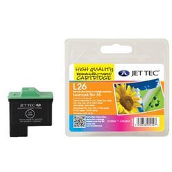 Jet Tec Lexmark Compatible No.26 10N0026E (11ml) Remanufactured Colour Inkjet Cartridge
