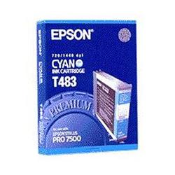 Epson T483 Cyan Ink Cartridge for Stylus Pro 7500