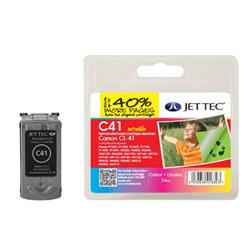 Jet Tec Canon Compatible CL-41 (3x8ml) Remanufactured Colour Inkjet Cartridge (Cyan, Magenta, Yellow)