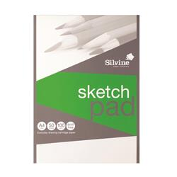 Silvine Popular Drawing Pad Acid Free Cartridge Paper 100gsm 50 Sheets A4 + Free Competition