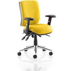 Chiro Task Operator Chair Medium Back Sunset Colour With Arms Ref KCUP0117