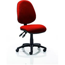 Luna II Task Operator Chair Pimento Colour Without Arms Ref KCUP0340