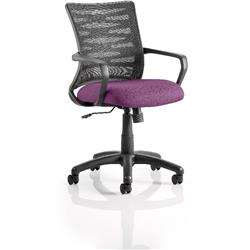 Vortex Task Operator Chair Purple Colour Seat Fabric With Arms Ref KCUP0608