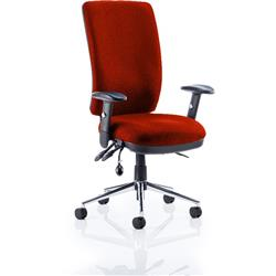 Chiro Task Operator Chair High Back Pimento Colour With Arms Ref KCUP0100