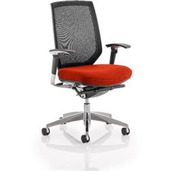 Midas Task Operator Chair Pimento Colour Seat With Arms Ref KCUP0412
