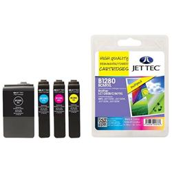 Jet Tec Brother Compatible LC1280XLBCMY (1x55ml, 2x13.5m) Remanufactured Inkjet Cartridge (Multipack - Black, Cyan, Magenta, Yellow)