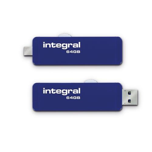 Foto Flash drive On the Go Integral - 64 GB - INFD64GBSLDOTG3.0NRP Chiavette USB