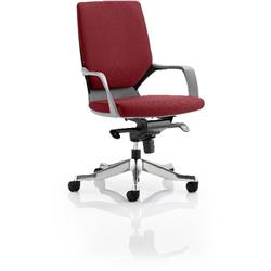 Xenon Executive Chair Black Medium Shiraz Back Chilli Colour With Arms Ref KCUP0630