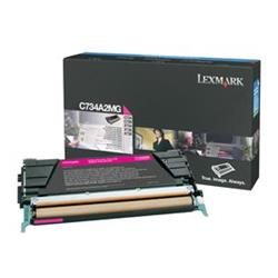 Lexmark Magenta Toner Cartridge (Yield 6,000 Pages) for C734/C736/X734/X736/X738 Colour Laser Printers