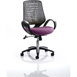 Sprint Task Operator Chair Purple Colour Silver Back With Arms Ref KCUP0576