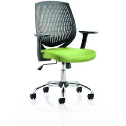 Dura Black Task Operator Chair Back Swizzle Colour Seat With Arms Ref KCUP0202