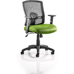 Portland Task Operator Chair Swizzle Colour Seat With Arms Ref KCUP0474