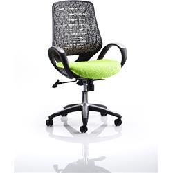 Sprint Task Operator Chair Swizzle Colour Silver Back With Arms Ref KCUP0570