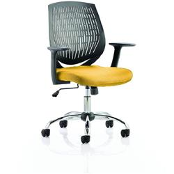 Dura Black Task Operator Chair Back Sunset Colour Seat With Arms Ref KCUP0205