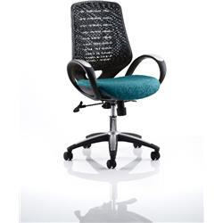 Sprint Task Operator Chair Kingfisher Colour Black Back With Arms Ref KCUP0567