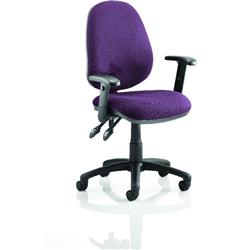 Luna II Lever Task Operator Chair Purple Colour With Height Adjustable Arms Ref KCUP0932
