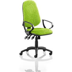 Eclipse XL III Lever Task Operator Chair Swizzle Colour With Loop Arms Ref KCUP0898