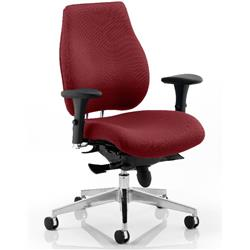 Chiro Plus Posture Chair Chilli Colour With Arms Ref KCUP0150
