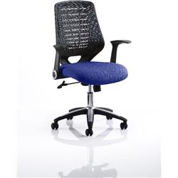 Relay Task Operator Chair Serene Colour Black Back With Arms Ref KCUP0507