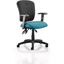 Toledo Task Operator Chair Kingfisher Colour Seat With Arms Ref KCUP0591