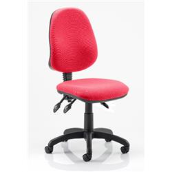 Eclipse III Task Operator Chair Cherry Colour Without Arms Ref KCUP0257