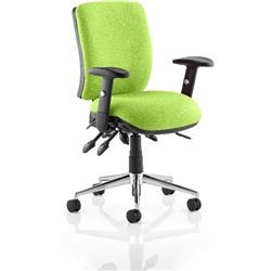 Chiro Task Operator Chair Medium Back Swizzle Colour With Arms Ref KCUP0114