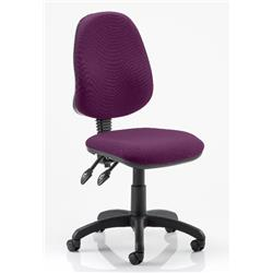 Eclipse II Task Operator Chair Purple Colour Fabric Without Arms Ref KCUP0232
