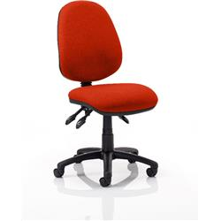 Luna III Lever Task Operator Chair Pimento Colour Without Arms Ref KCUP0356