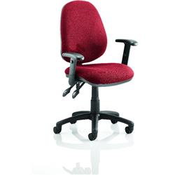 Luna II Lever Task Operator Chair Cherry Colour With Height Adjustable Arms Ref KCUP0928