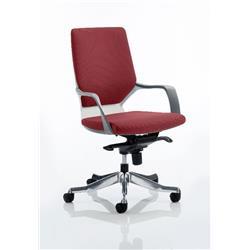 Xenon Executive Chair White Medium Shiraz Back Chilli Colour With Arms Ref KCUP0614