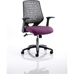 Relay Task Operator Chair Purple Colour Silver Back With Arms Ref KCUP0520