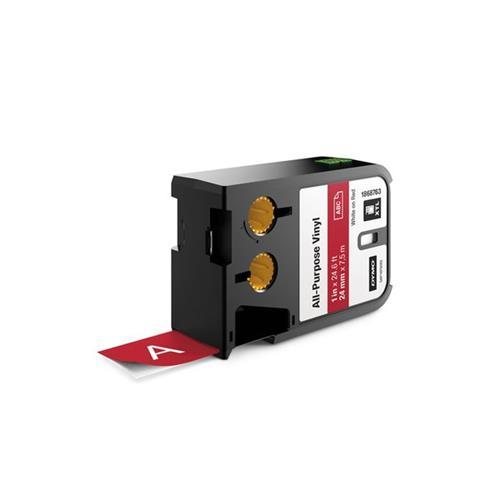 Foto Etichette XTL in vinile Dymo - 24 mm - bianco/rosso - 1868763 Etichette e Nastri