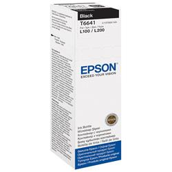 Epson T6641 Black Ink Bottle (70ml) for L-Series Ink Tank