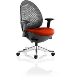Revo Task Operator Chair Pimento Colour Seat With Arms Ref KCUP0716